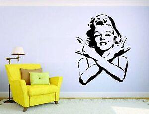 Marilyn Monroe Girl Wall Mural Vinyl Decal Sticker Decor Car Punk Rock Hop Hop