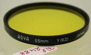 Complexé Original Hoya Jaune Yellow Filtre Lens 55 Mm 55ø Japon Fil2488/8-afficher Le Titre D'origine