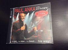 "PAUL ANKA ""Live and Schwingend"" 2 cds Set only at US angezeigt UNTERZEICHNET CD"