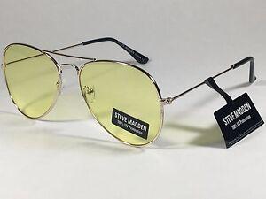 c7823c8df7 Image is loading New-Steve-Madden-Aviator-Sunglasses-Gold-Tone-Metal-