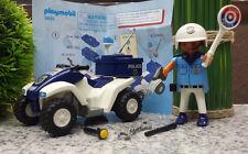 Playmobil 3655 Figur US Cop Polizist Quad Motorrad Police blau weiss komplett