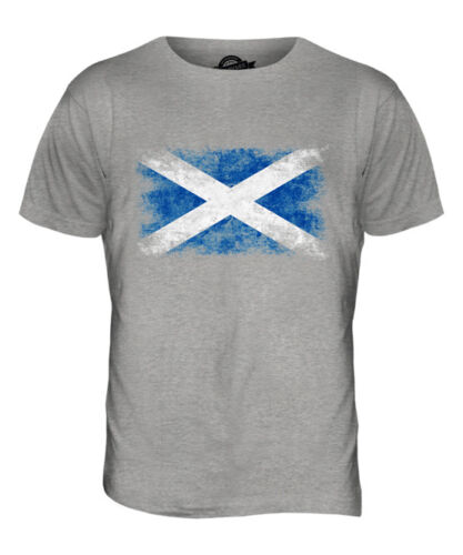SCOTLAND DISTRESSED FLAG MENS T-SHIRT TOP SCOTTISH SCOTCH SHIRT FOOTBALL GIFT