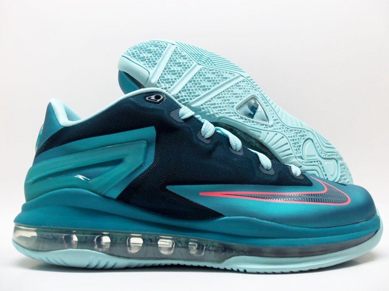 Nike max lebron xi niedrig (gs) turbo - grünen schatten größe 5.5y frauen / 7 [644534-301]