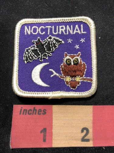 Moon /& Stars Bat And Night Owl NOCTURNAL Patch Insomnia Late Night 00Y5