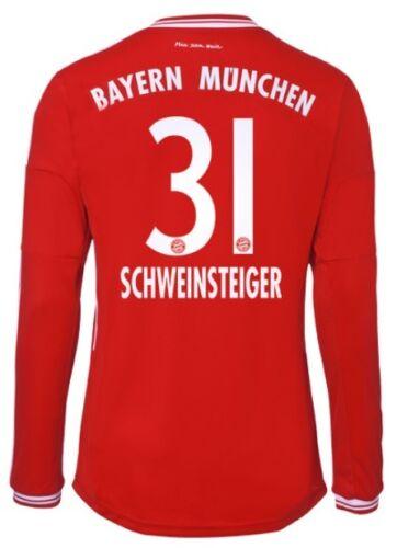 Schweinsteiger FCB S-3XL Trikot Adidas FC Bayern 2013-2014 Home Langarm
