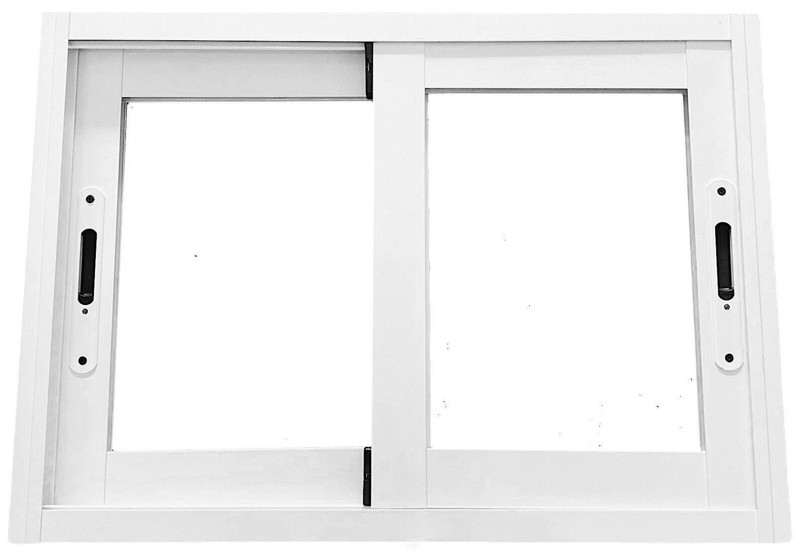 Ventana corredera de aluminio blanco a medida Ancho maximo 45cm alto maximo 45cm