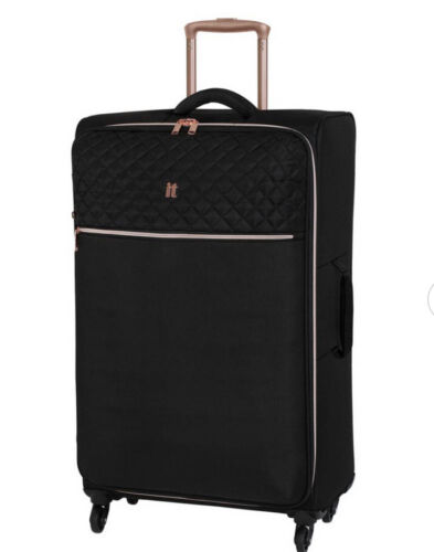 Large Divinity IT Suitcase in Black and Rose Gold