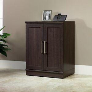Image Is Loading Storage Cabinet Organizer Kitchen Wood 2 Door Shelves