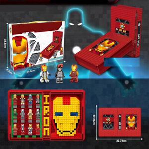 LEGO-COM-MATTONCINI-MARVEL-AVENGERS-IRON-MAN-BOOK-CONTENITORE-CON-PERSONAGGI