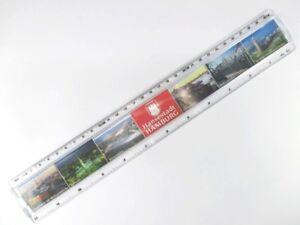 Hamburg Lineal Ruler 30 cm Souvenir Germany,Landun<wbr/>gsbrücken,Rath<wbr/>aus ..