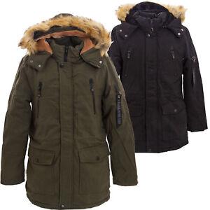 new product b9a36 63b3d Dettagli su Parka uomo giubbotto cappuccio ecopelliccia caldo giaccone  lungo nuovo YT308