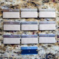 10 Pal Blue Single Edge Razor Blades By Personna 3-facet Edge Production