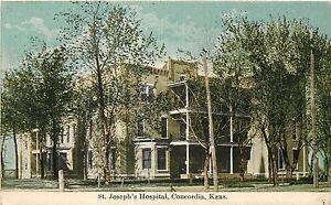c1950 St Josephs Hospital, Concordia, Kansas Real Photo