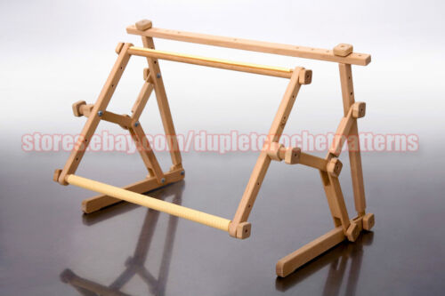 Cross stitch embroidery wooden frame tapestry holder bed table stand rack wood