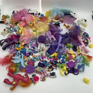 Huge Lot of About 50-60 My Little Pony Ponies Big And Small With Carrying Bag