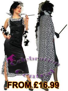 cruella de ville fancy dress costume with optional. Black Bedroom Furniture Sets. Home Design Ideas