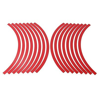"""Red Reflective Wheel Rim Stripes for Car Motorcycle with 10""""-12"""" Tape Stickers"""