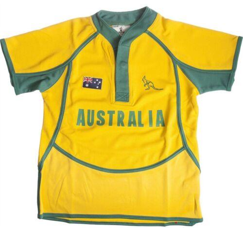 Children/'s stile fresco e asciutto Rugby Camicia in Australia colori Taglia 9-10 anni