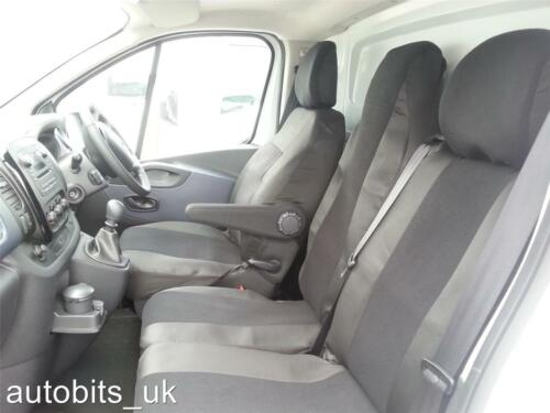 PREMIUM FABRIC BLACK SEAT COVERS TAILORED FOR VAUXHALL VIVARO 2014