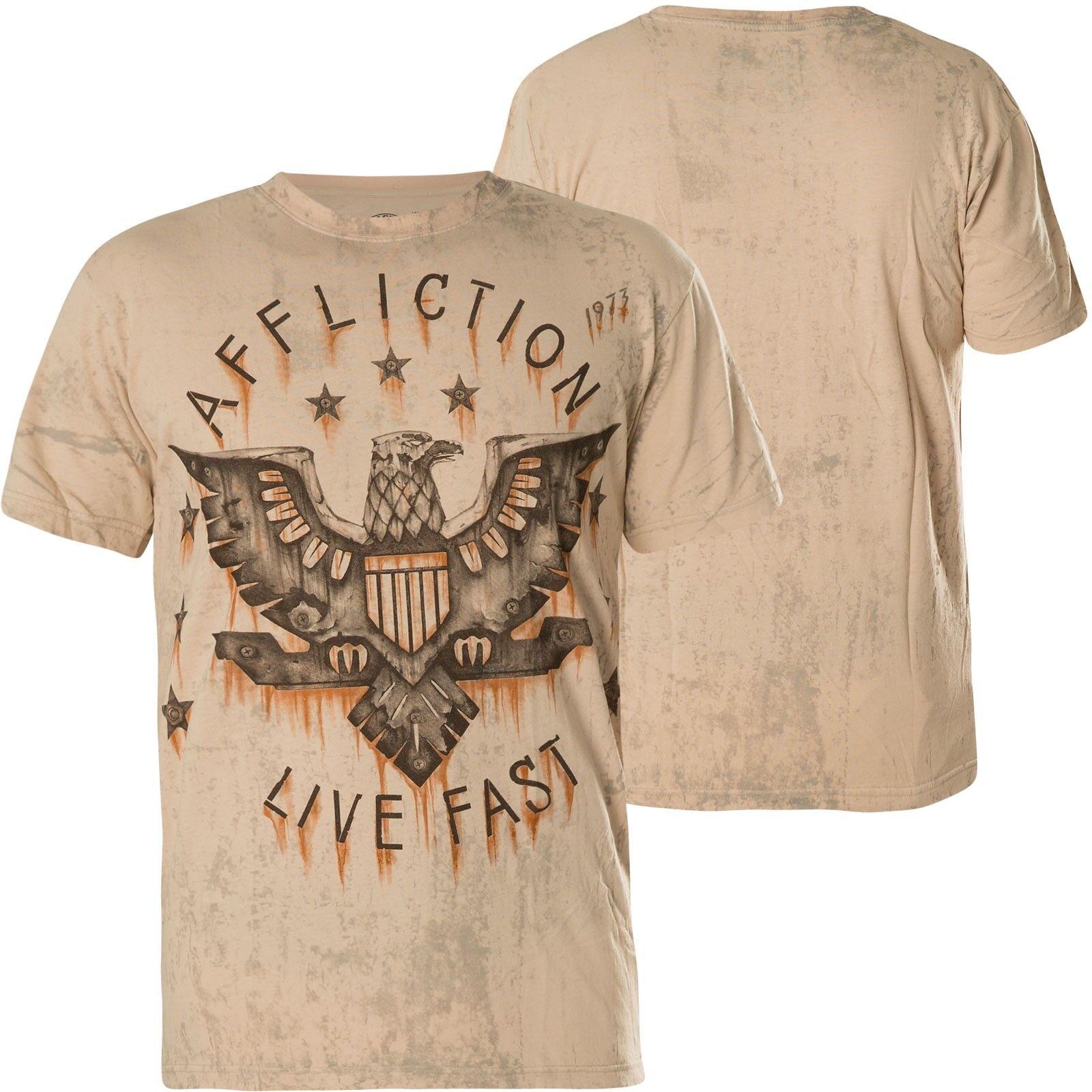 AFFLICTION T-Shirt Iron Eagle Beige T-Shirts