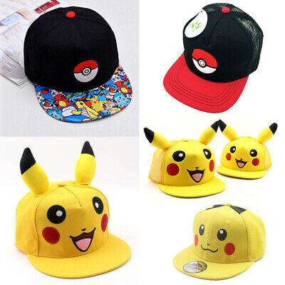 Pikachu Licensed Boys Pok/émon Snapback Cap Hat Age 8-12 Years Mesh Back