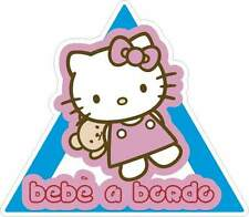 PEGATINA STICKER AUFKLEBER BEBE A BORDO STICKER KITTY COCHE CRISTAL