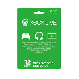 Efficace Région Libre Microsoft Xbox One 360 Live Gold 12 Mois Membership Card (global)-afficher Le Titre D'origine Assurer IndéFiniment Une Apparence Nouvelle