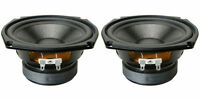 """NEW (2) 5.25"""" Woofer Speakers.Home Audio.5-1/4.8 ohm.Replacement Pin cusion PAIR"""