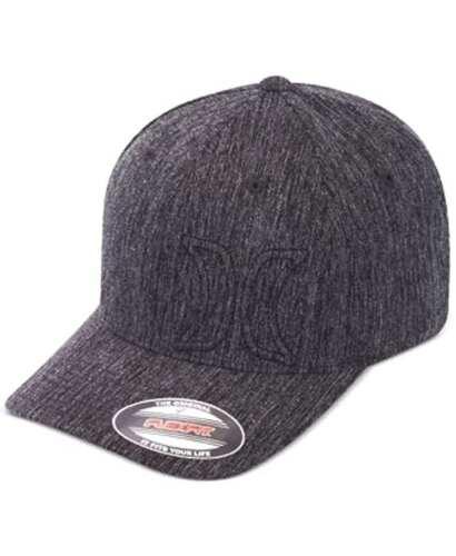 NEW MENS HURLEY cypress FLEXFIT HAT CAP BLACK HEATHER LARGE X-LARGE