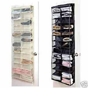 Image Is Loading 26 30 Pair Over Door Hanging Shoe Rack