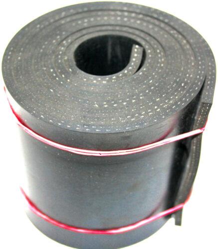 Gummistreifen mit Gewebe 3mm dick 150mm breit  wählbar 1m bis 10m Länge Gummi