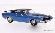 Dodge Challenger R/T 1970  metallic-blau/matt-schwarz  1:43 Ixo Premium X