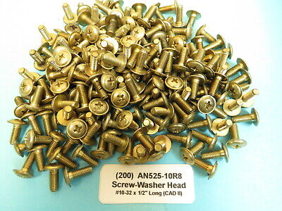 """AN525-10R7 #10-32 x 7//16"""" Aircraft Structural Washer Head Phillips Screws 200"""