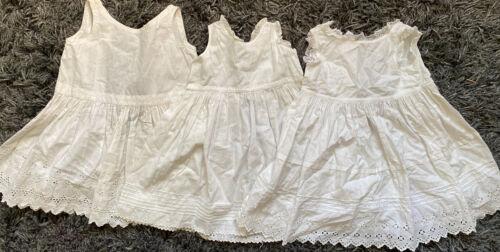 Vintage Antique Child Toddler Eyelet Dress Lot
