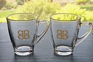 Set-of-2-BAILEY-039-S-Large-Glass-Coffee-Hot-Beverage-Mugs-Cups-12-oz