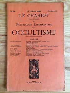 Le-Chariot-n-56-Octobre-1934-revue-Occultisme-Astrologie-Philosophie