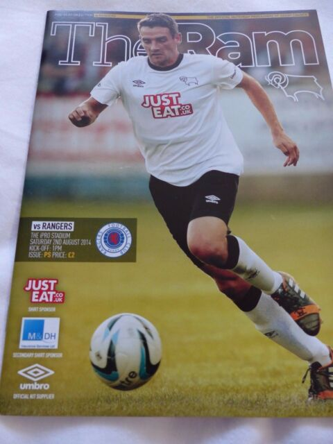 DERBY COUNTY RANGERS PRE SEASON  AUGUST 2014 MATCH PROGRAMME