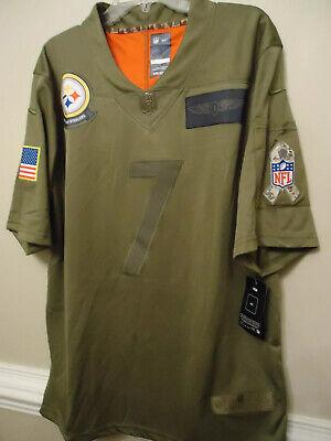 NWT Ben Roethlisberger Steelers Salute to Service 3XL Olive Camo Jersey Nike | eBay