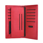 Women Leather Wallet Lady Zipper Purse RFID Credit Card Clutch Holder Case Red