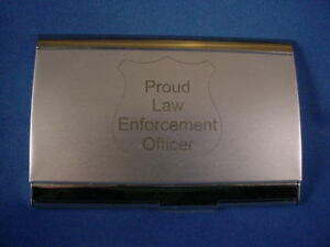 Proud law enforcement police business card holder new ebay image is loading proud law enforcement police business card holder new colourmoves