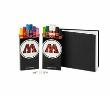 MOLOTOW ONE 4 ALL 127 PENS + STYLEFILE A4 BLACKBOOK PACK - PAINT MARKER PENS