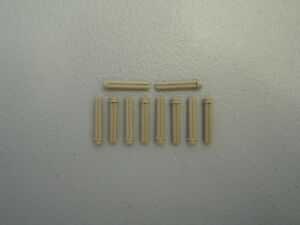 Lego Lot of 5 New Dark Tan Technic Axle 5 with Stop Pieces Parts