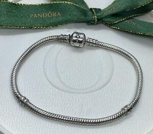 Pandora 19.5Cm Authentic Sterling Silver Charm Bracelet 925 ALE 590702HV