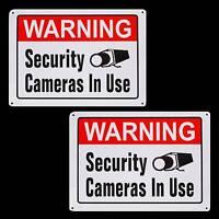 Metal Spy Security Cctv Video Surveillance Cameras System Warning Yard Signs Lot