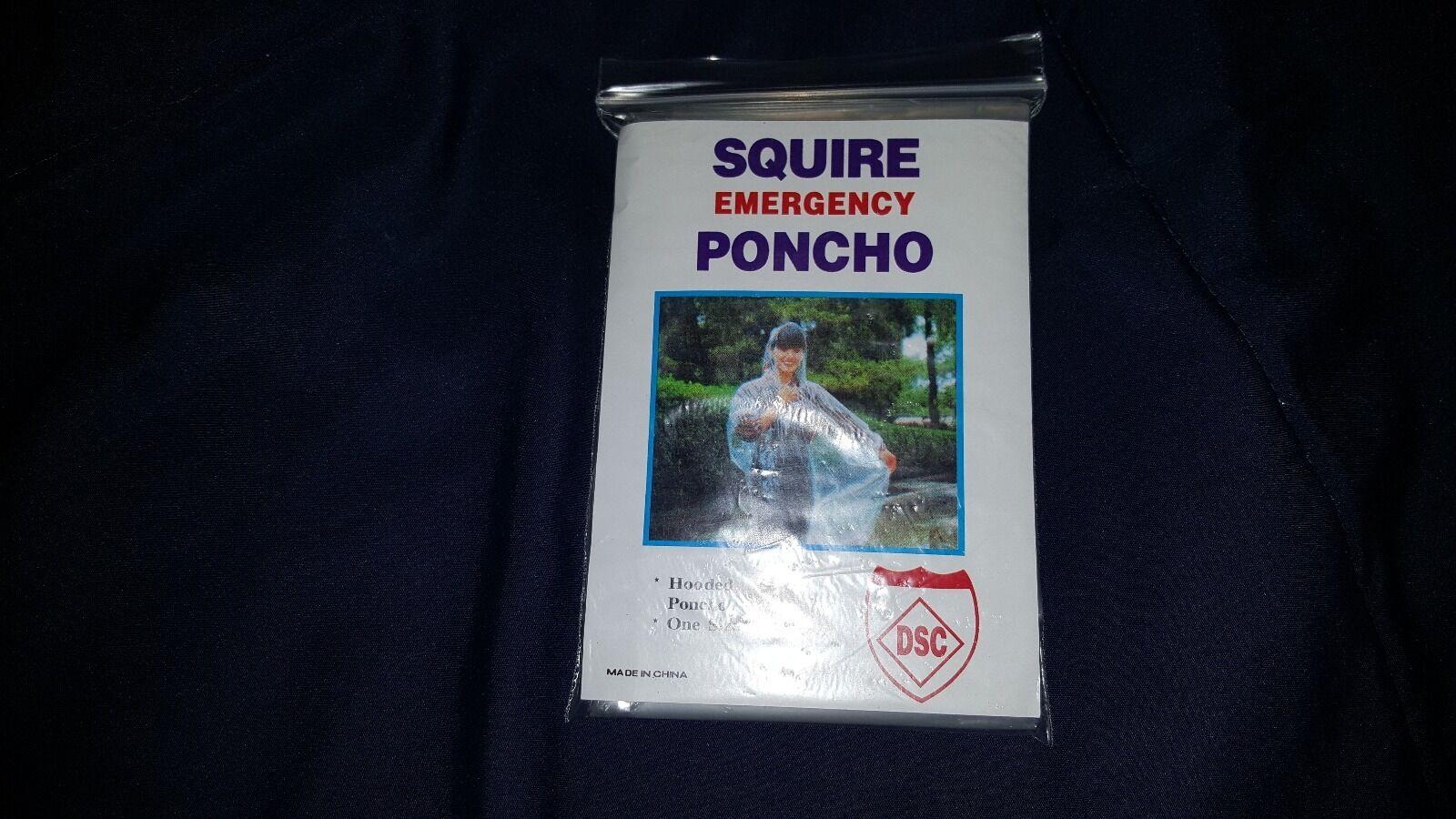 Poncho Con Capucha Emergencia Squire, una talla única para todos, caja de 200