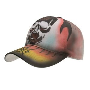 Details about AKIZON 2018 New Skull Painting Men Women Couple Baseball Cap  Spring Summer e7c6282cfa6