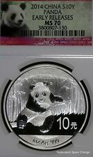 """2014 NGC MS70 """"Early Releases"""" China .999 Silver Panda!!"""