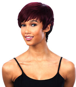 Misty Rose Milkyway Saga 100 Human Remy Hair Wig Short
