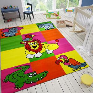 Tapis-pour-Enfants-Chambre-D-039-Enfants-Animal-Motif-Multicolore-Oeko-Tex-Teste
