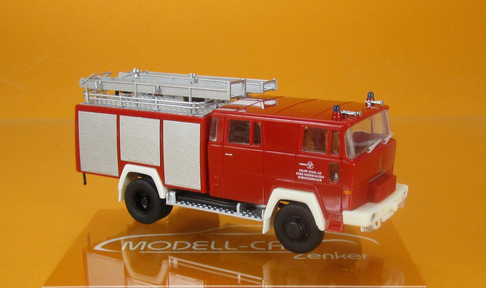 Brekina 58804 MAGIRUS D lf16 TS WF Krupp Duisburg Rhin est habité Scale 1 87